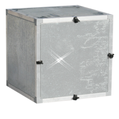 Aluminium ventilatorbox 1000x1000x1000 mm